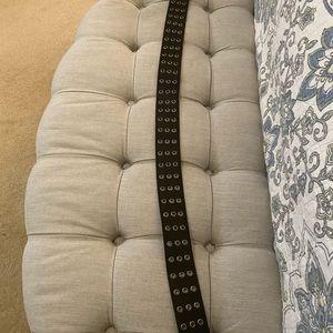 Prada Black Leather Belt